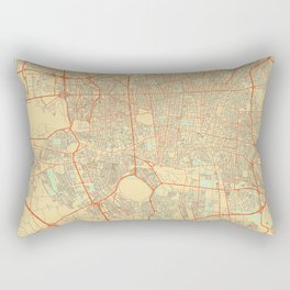 Teheran Map Retro Rectangular Pillow