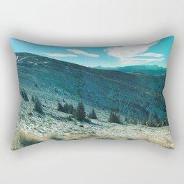 landscape in turqouise Rectangular Pillow