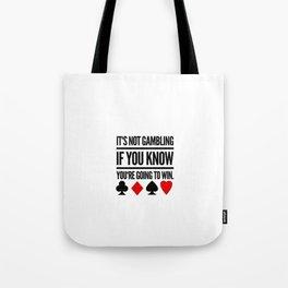 Poker Gambling Las Vegas Casino Tote Bag