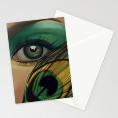 Through The Eye Of A Peacock Stationery Cards