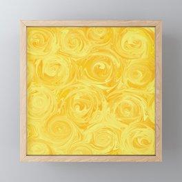 Honey Yellow Roses Abstract Framed Mini Art Print