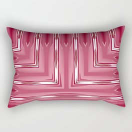 Art Deco Pink Spear Pattern Rectangular Pillow