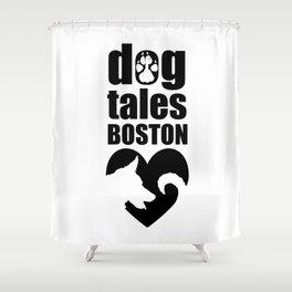 DogTales Boston Extended Logo Shower Curtain