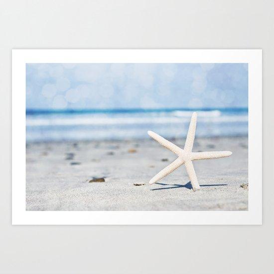 Starfish By The Seashore  Art Print