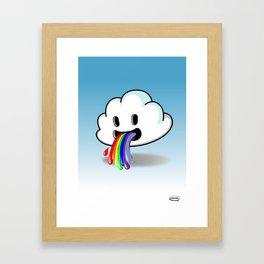 Barf The Cloud Framed Art Print
