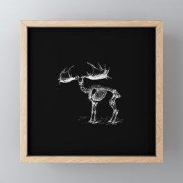 Skeleton of a Monster Deer Elk Illustration Framed Mini Art Print