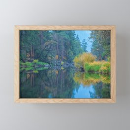 Autumn Dawn at Merced River Framed Mini Art Print