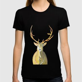 Golden Stag Watercolor T-shirt