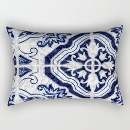 Azulejo VI - Portuguese hand painted tiles Rectangular Pillow