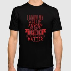 I know my value. Mens Fitted Tee Black 2X-LARGE
