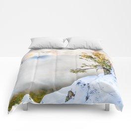 Halo in Caucasian ridge Comforters