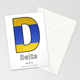 Delta - Navy Code Stationery Cards