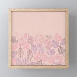 LEAVES ENSEMBLE ROSE Framed Mini Art Print