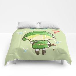 Hey Listen! Cute Link From Zelda Kawaii :) Comforters
