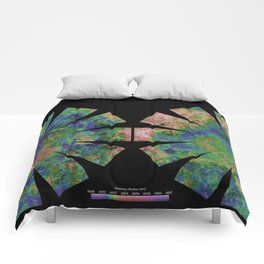 Planet Venus Hemispherical Globes (with place names) Comforters