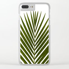 Bamboo - Tropical Botanical Print Clear iPhone Case