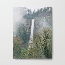 Misty Multnomah Falls, Oregon Metal Print