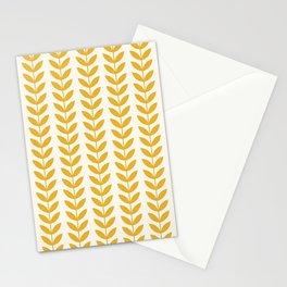 Scandinavian Mid Century Pattern Yellow Stationery Cards