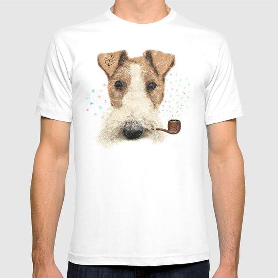fox terrier sailor T-shirt