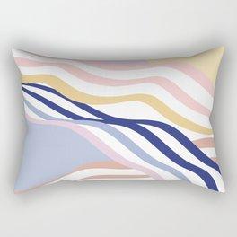 Abstract Summer Waves Rectangular Pillow