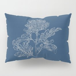 Chrysanthemum Blueprint Pillow Sham