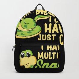Multiple Snake Disorder - Funny Snake Lover Gift Backpack