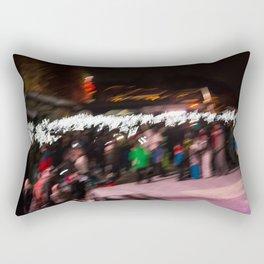 Torchlight descent Rectangular Pillow
