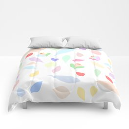 Colorful pastel leaves Comforters