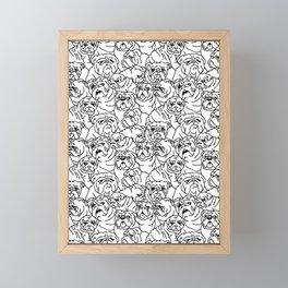 Oh English Bulldog Framed Mini Art Print