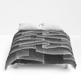 Aurora Borealis_Black and White Comforters