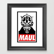 Obey Darth Maul (maul text version) - Star Wars Framed Art Print