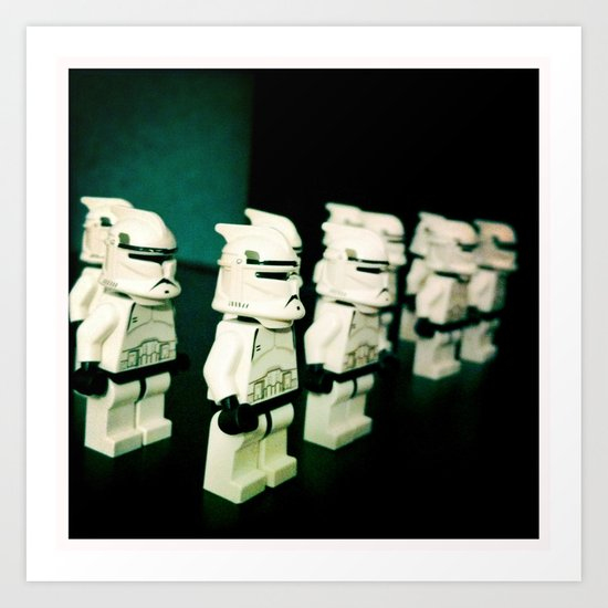 Lined Up Art Print