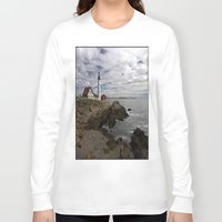 maine Long Sleeve T-shirts featuring Maine Splendor by Catherine1970