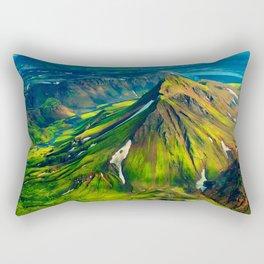 Green Peak Rectangular Pillow