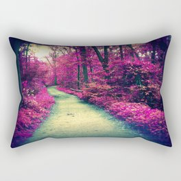 Mystical Path in Forest Park, Forest, Woodlands Rectangular Pillow