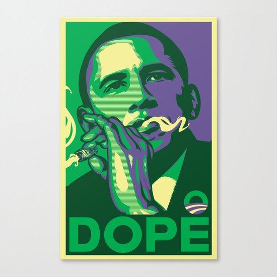 the dopest president Canvas Print