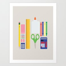 School House Colored Art Print