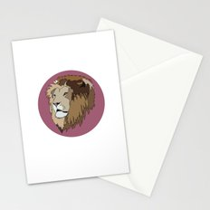 Wild Rectangular Lion Stationery Cards