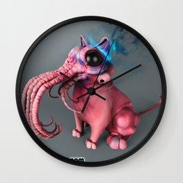 Art Print: Cat-Thulhu, Ronin Press Comics logo Wall Clock