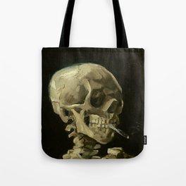 Vincent van Gogh - Skull of a Skeleton with Burning Cigarette Tote Bag