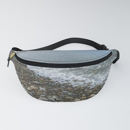 Tide going out on Pebble beach. Fanny Pack
