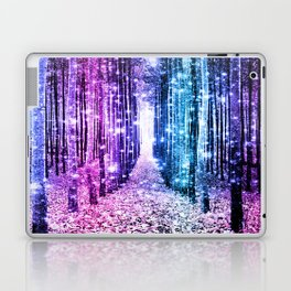 Magical Forest : Aqua Periwinkle Purple Pink Ombre Sparkle Laptop & iPad Skin
