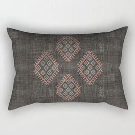 Kilim in Black and Pink Rectangular Pillow