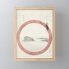 View of Enoshima, Totoya Hokkei, 1821 Framed Mini Art Print