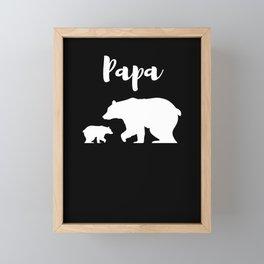 Papa Bear Framed Mini Art Print