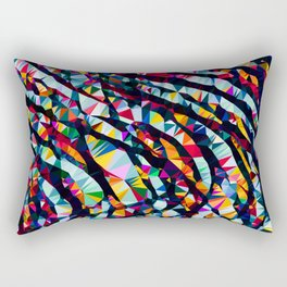 Wavy Lines Low Poly Geometric Triangles Rectangular Pillow