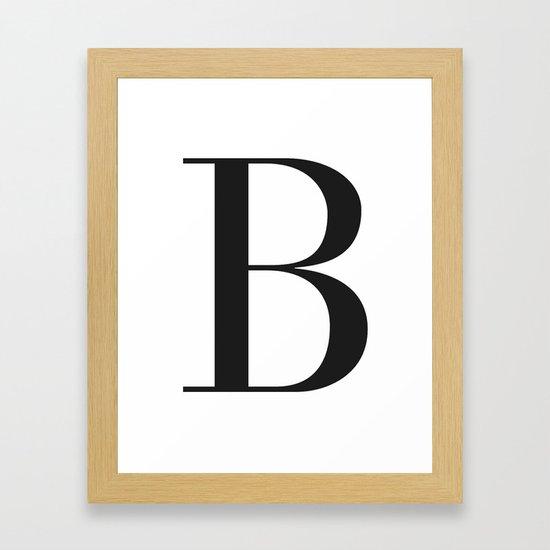 'B' Initial by claraivy