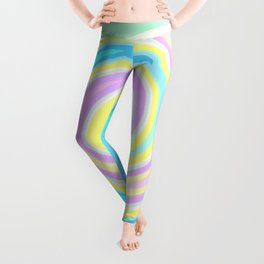 Bright abstract spiral Leggings