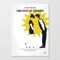 No500 My (500) Days Of Summer minimal movie poster Canvas Print
