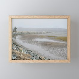 Salt Water Marsh Snow Squall Framed Mini Art Print